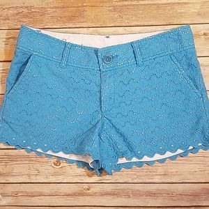 Lilly Pulitzer Walsh blue eyelet shorts